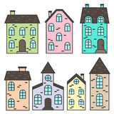 Colorful houses set Royalty Free Stock Photos