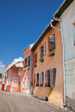 Colorful houses in Sighisoara Royalty Free Stock Photos