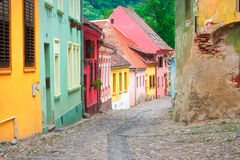 Colorful Houses of Sighisoara Royalty Free Stock Photography