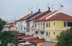 Colorful houses in Singapore downtown Royalty Free Stock Photography