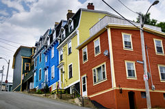 Colorful houses in St. John's royalty free stock photography