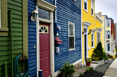 Colorful houses in St. John's. Newfoundland, Canada Stock Image