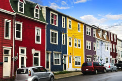 Colorful houses in St. John's. Street with colorful houses in St. John's, Newfoundland, Canada Royalty Free Stock Photography