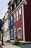 Colorful houses in St. John's Royalty Free Stock Image