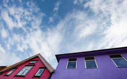 Colorful houses in stavanger Stock Photography