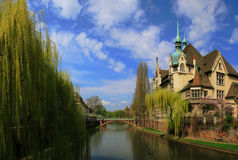 Colorful houses of Strasbourg Royalty Free Stock Images