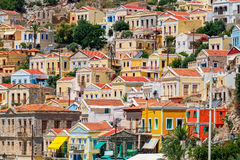 Colorful houses. Symi, Greece Royalty Free Stock Photography