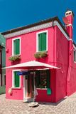Colorful houses taken on Burano island , Venice, Italy Stock Image