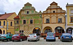 Colorful houses of Telc, Czech Republic. Colorful historical houses of Telc, Czech Republic Stock Photography