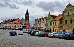 Colorful houses of Telc, Czech Republic Royalty Free Stock Photography