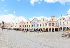 Colorful Houses, Telc stock photography
