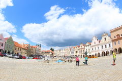 Colorful Houses, Telc stock photo