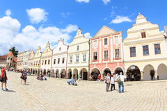 Colorful Houses, Telc royalty free stock photography