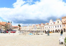 Colorful Houses, Telc stock images