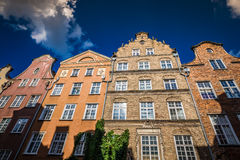 Colorful houses - tenements in old town Gdansk, Poland Stock Image