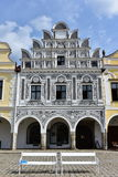 Colorful houses in town Telc,Czech republic. UNESCO protected town Royalty Free Stock Photography