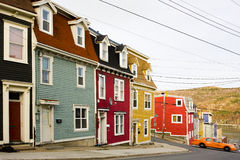 Colorful houses in Newfoundland stock image