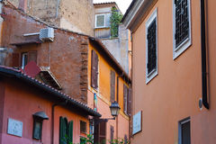 Colorful houses in Trastevere, Roma. Colorful houses in Trastevere, a typical roman neighbourhood Royalty Free Stock Images