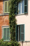 Colorful houses in Trastevere, a typical roman neighbourhood. Rome Stock Photography
