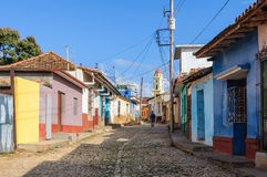 Colorful houses in Trinidad, Cuba Royalty Free Stock Photo