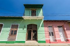 Colorful houses of Trinidad Cuba. Royalty Free Stock Images