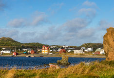 Colorful houses in Twillingate Stock Photos