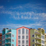 Colorful houses under a blue sky Stock Photo