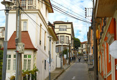 Colorful houses in Valparaiso, Chile Stock Photography