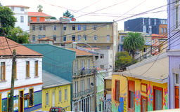 Colorful houses in Valparaiso, Chile Stock Photo