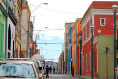 Colorful houses in Valparaiso, Chile Stock Photos