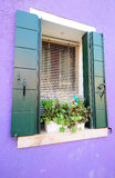 Colorful houses in Venice Stock Photography