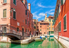 Colorful houses of Venice, Italy. Stock Image