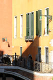 Colorful houses in Venice. Typicel colorful houses in Venice Royalty Free Stock Image