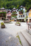 Colorful houses village square in Hallstatt Royalty Free Stock Photography