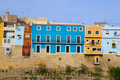 Colorful houses in Villajoyosa La vila Joiosa Alicante Royalty Free Stock Photos