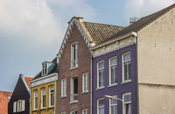 Colorful houses at the waalkade in Nijmegen Royalty Free Stock Photos