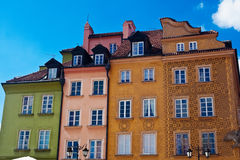 Colorful Houses In Warsaw Royalty Free Stock Images