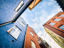 Colorful houses in Warsaw Royalty Free Stock Photos