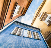 Colorful houses in Warsaw Royalty Free Stock Photography