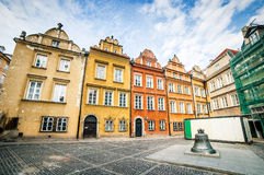 Colorful houses in Warsaw Stock Photo