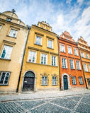 Colorful houses in Warsaw Stock Image