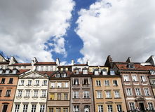 Colorful houses at Warsaw(Poland) Stock Photos