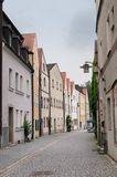 Colorful houses, Weiden, Bavaria, Germany royalty free stock photos