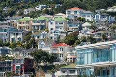 Colorful houses in Wellington Stock Photo