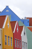 Colorful houses in Willemstad Royalty Free Stock Images
