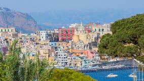 Procida Island in sunny summer day, Italy royalty free stock photo