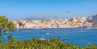 Amazing panoramic view of Procida Island, Italy Stock Photography