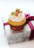 Colorful hristmas  cupcake Royalty Free Stock Image