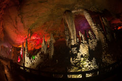 Colorful of Huanglong cave in China. Stock Photos