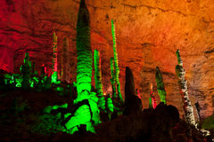 Colorful of Huanglong cave in China. Royalty Free Stock Image